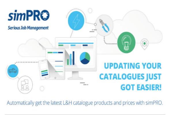 simPRO integrates up-to-date Auslec L&H catalogues into job management software
