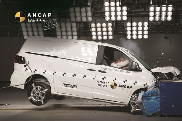LDV G10 ANCAP crash test 1